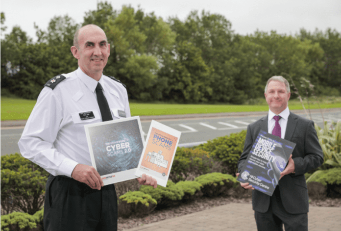 Above: Chair of the ScamwiseNI Partnership Chief Superintendent Simon Walls and Joe Dolan, head of NI Cyber Security Centre