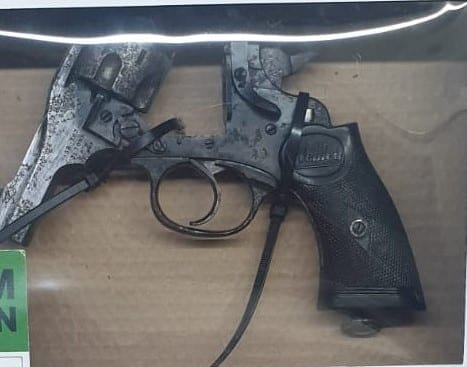 A firearm and ammunition recovered by Detectives from the Paramilitary Crime Task Force in west Belfast on Friday 11th September.